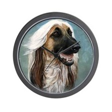 Cute Afghan hound Wall Clock