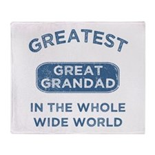 Greatest Great Grandad In The World Throw Blanket