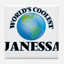 World's Coolest Janessa Tile Coaster
