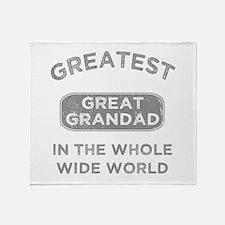 Greatest Great Grandad In The World Throw Blanket