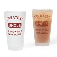 Greatest Uncle In The World Drinking Glass