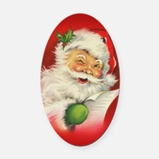 Vintage Christmas Santa Claus Oval Car Magnet