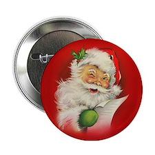 "Vintage Christmas Santa Claus 2.25"" Button"