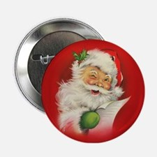 "Vintage Christmas Santa Claus 2.25"" Button"