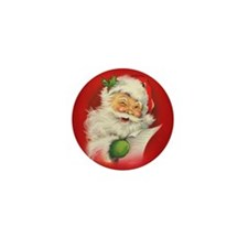 Vintage Christmas Santa Claus Mini Button