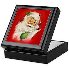 Vintage Christmas Santa Claus Keepsake Box