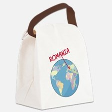 romania-globe.png Canvas Lunch Bag