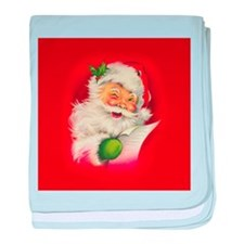 Vintage Christmas Santa Claus baby blanket