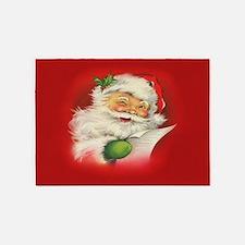 Vintage Christmas Santa Claus 5'x7'Area Rug