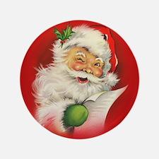 "Vintage Christmas Santa Cla 3.5"" Button (100 pack)"
