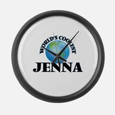 World's Coolest Jenna Large Wall Clock