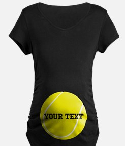 Personalized Tennis Gift Maternity T-Shirt
