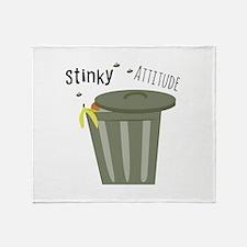 Stinky Attitude Throw Blanket