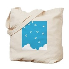 Birds Soaring Above the Clouds Tote Bag
