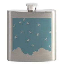 Birds Soaring Above the Clouds Flask