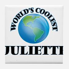 World's Coolest Juliette Tile Coaster