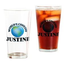World's Coolest Justine Drinking Glass