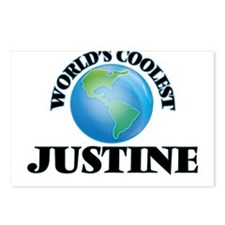 World's Coolest Justine Postcards (Package of 8)