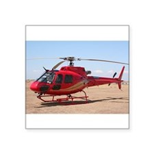 Helicopter, red Sticker