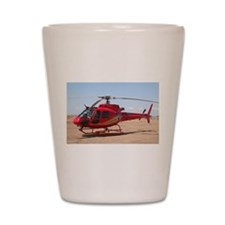 Helicopter, red Shot Glass