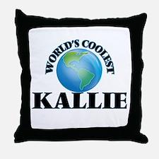 World's Coolest Kallie Throw Pillow