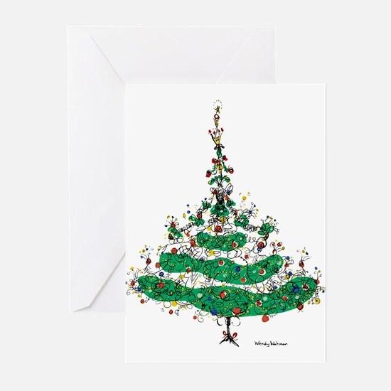 Christmas Dress Greeting Cards