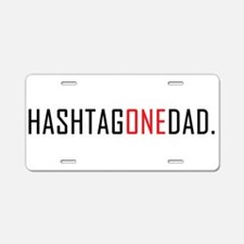 #1 Dad. Aluminum License Plate