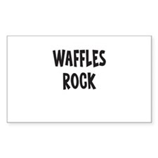 Waffles Rock Decal