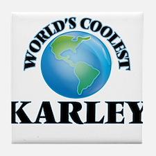 World's Coolest Karley Tile Coaster