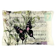 Pansies and music Pillow Case