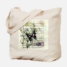 Pansies and music Tote Bag