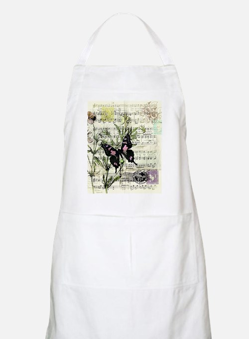 Pansies and music Apron