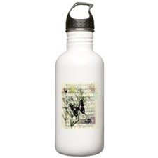 Pansies and music Sports Water Bottle