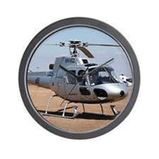 Helicopter (silver) aircraft Wall Clock
