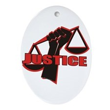 Justice Ornament (Oval)