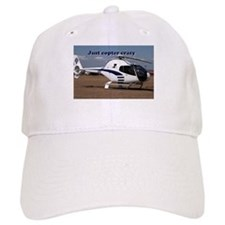 Just copter crazy: helicopter (blue & white) Baseball Cap