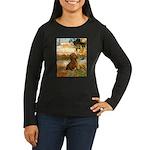Garden (VG) & Dachshund Women's Long Sleeve Dark T