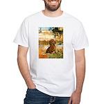 Garden (VG) & Dachshund White T-Shirt