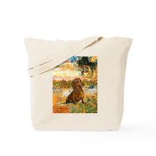 Garden (VG) & Dachshund Tote Bag
