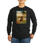 Garden (VG) & Dachshund Long Sleeve Dark T-Shirt