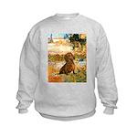 Garden (VG) & Dachshund Kids Sweatshirt