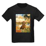 Garden (VG) & Dachshund Kids Dark T-Shirt