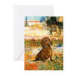 Garden (VG) & Dachshund Greeting Cards (Pk of 10)