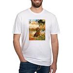 Garden (VG) & Dachshund Fitted T-Shirt