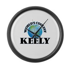 World's Coolest Keely Large Wall Clock