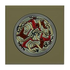 Celtic Deer Knot Tile Coaster