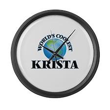 World's Coolest Krista Large Wall Clock