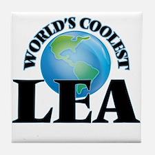 World's Coolest Lea Tile Coaster