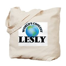 World's Coolest Lesly Tote Bag