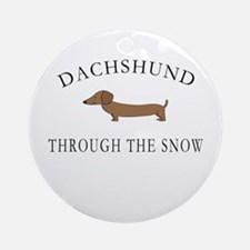 Dachshund Through The Snow Ornament (Round)